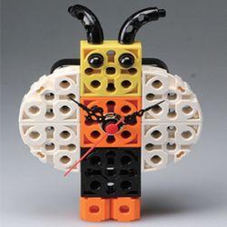꿀벌 블럭시계 (170208) 블럭레고형시계조립시계