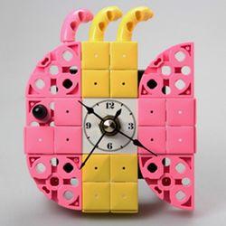 물고기7 블럭시계 (170321) 블럭레고형시계조립시계