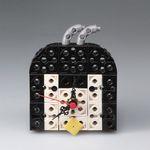 펭귄블랙 블럭시계 (170352) 블럭레고형시계