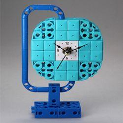 지구본3 블럭시계 (170345) 블럭레고형시계