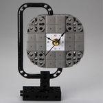 지구본6 블럭시계 (170260) 블럭레고형시계