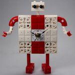 로봇1 블럭시계 (170369) 블럭레고형시계조립시계