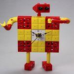 로봇2 블럭시계 (170192) 블럭레고형시계조립시계