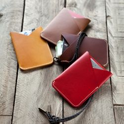 3621 V Pocket Card Holder Buttero (+Strap) -각인