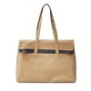 FITZ CANVAS TOTE BAG (TAN)