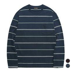 밴웍스 멀티 스트라이프 포켓 티셔츠 (VNAGTS012)
