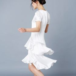 SILK RUFFLE DRESS