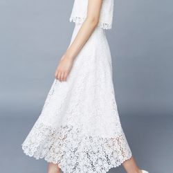 [클레어드룬] HEART LACE SKIRT
