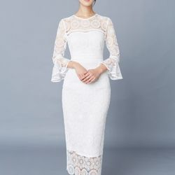 [클레어드룬] TRUMPET SLEEVE DRESS