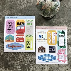 Travel Baggage Sticker 01