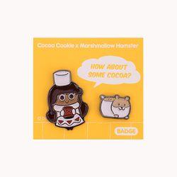 쿠키런 쿠키&펫 뱃지세트 (코코아맛 쿠키)