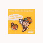 쿠키런 쿠키&펫 뱃지세트 (오렌지맛 쿠키)