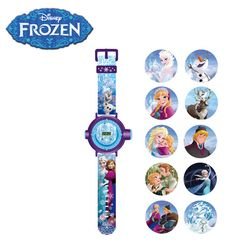 [Disney] 디즈니 겨울왕국 LCD 프로젝터 손목시계