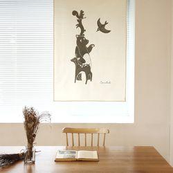 코니테일 패브릭 포스터 - 동물친구들 (아이방꾸미기)