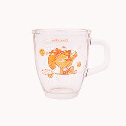 쿠키런 유리머그컵 (오렌지맛 쿠키)