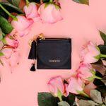 [무료배송] 태슬+미니에코백 French Card Wallet - Black