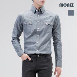 [모니즈] 더블유 포켓 데님셔츠 SHT403