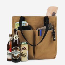 Super Oxford 6 Pocket 3 Way Bag - Beige