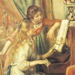 A5123 피아노앞의 두소녀 500조각 직소퍼즐+액자세트