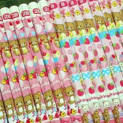 일본 리락쿠마 스위트딸기 3P 연필세트 B2B