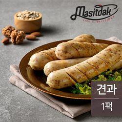 맛있닭 닭가슴살 소시지 견과맛 100g(1팩)