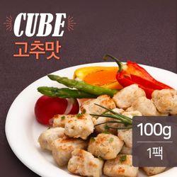 맛있닭 닭가슴살 볼 고추맛 100g(1팩) / 훈제