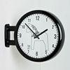 (ktk082) 블랙화이트 더블양면시계