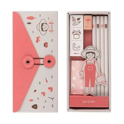 ECO STATIONERY SET ver.9 - EAT GREEN