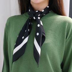 Dot color scarf