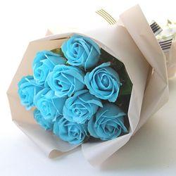 10송이 비누장미 꽃다발-블루