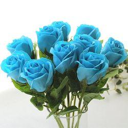 비누꽃 10송이 장미부쉬-블루