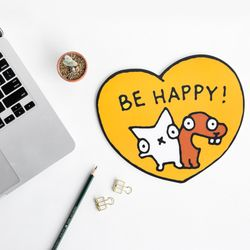 SNOWCAT MOUSEPAD - BE HAPPY!
