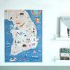 대한민국 지도 스티커 유아 포스터