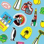Lazy Lounge Sticker set - 루카랩X캠퍼 스티커세트
