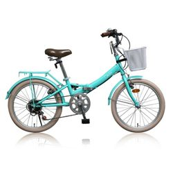 데이지 20인치 미니벨로 접이식  여성용 자전거