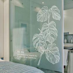 몬스테라라인 (S712) 그래픽스티커 식물그림