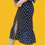 프린팅앞트임롱스커트printing slit long skirt