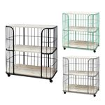 CORDOBA Trolley with 3 shelves Black 3단