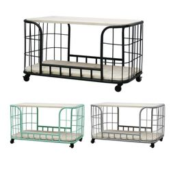 CORDOBA Trolley with 2 shelves Black 2단