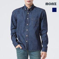 [모니즈] 스티치 스트라이프 데님셔츠 SHT425