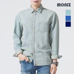 [모니즈] 원포켓 스티치 데님셔츠 SHT424