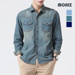 [모니즈] 투포켓 데님셔츠 SHT423