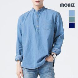 [모니즈] 원포켓 헨리넥 데님셔츠 SHT421