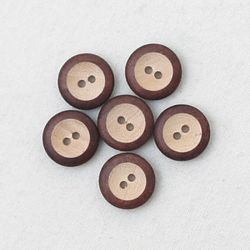 부엉이눈 나무단추(6개)