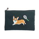 tennis corgi pouch
