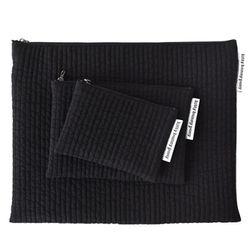quilting black pouch (medium)
