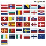 유럽 세계국기 와펜 패치(소)