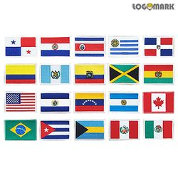 아메리카 세계국기 와펜 패치(기본)