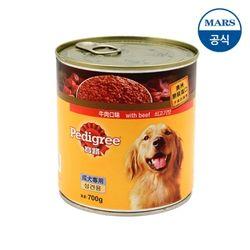 페디그리 쇠고기맛 캔 700g