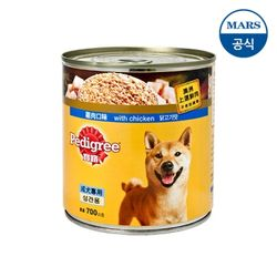 페디그리 닭고기맛 캔 700g